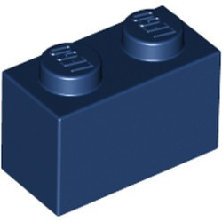 Dark Blue Brick 1 x 2 - new