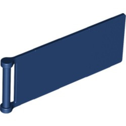 Dark Blue Flag 7 x 3 with Bar Handle