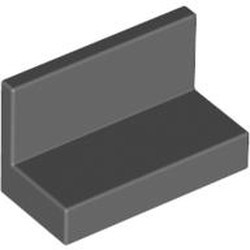Dark Bluish Gray Panel 1 x 2 x 1 with Rounded Corners - used