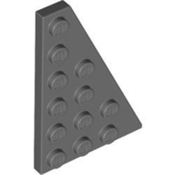 Dark Bluish Gray Wedge, Plate 6 x 4 Right - new