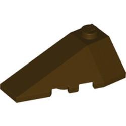 Dark Brown Wedge 4 x 2 Triple Left - new