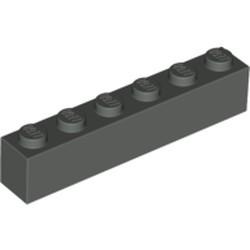 Dark Gray Brick 1 x 6 - used
