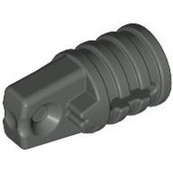 Dark Gray Hinge Cylinder 1 x 2 Locking with 1 Finger and Axle Hole on Ends with Slots - used