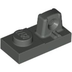 Dark Gray Hinge Plate 1 x 2 Locking with 1 Finger On Top - used
