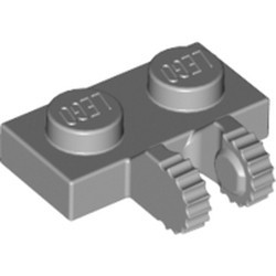 Light Bluish Gray Hinge Plate 1 x 2 Locking with 2 Fingers on Side and 9 Teeth - new