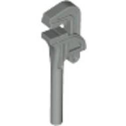 Light Gray Minifigure, Utensil Tool Pipe Wrench