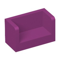 Magenta Panel 1 x 2 x 1 with Rounded Corners and 2 Sides - used