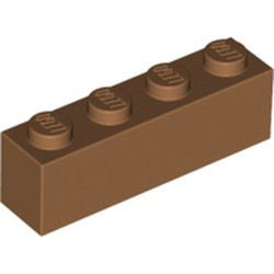 Medium Nougat Brick 1 x 4 - new