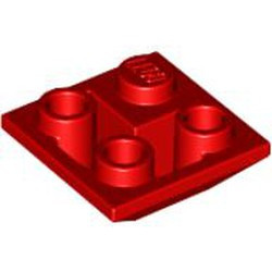 Red Slope, Inverted 45 2 x 2 Double Convex - new