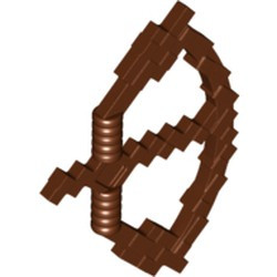 Reddish Brown Minifigure, Weapon Bow with Arrow Pixelated (Minecraft) - used
