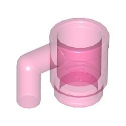 Trans-Dark Pink Minifigure, Utensil Cup - used