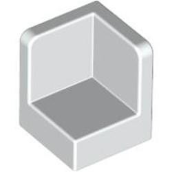 White Panel 1 x 1 x 1 Corner - used