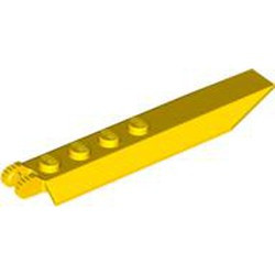 Yellow Hinge Plate 1 x 8 with Angled Side Extensions, 9 Teeth and Rounded Plate Underside - used