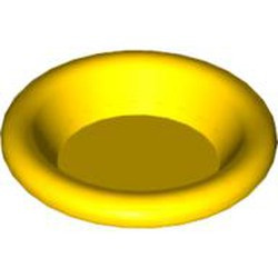 Yellow Minifigure, Utensil Dish 3 x 3 - used