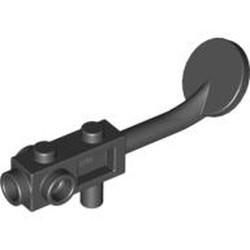 Black Minifigure, Utensil Metal Detector, no Stud on Search Head