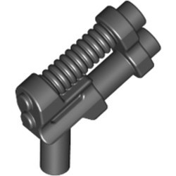 Black Minifigure, Weapon Gun, Two Barrel Pistol - new