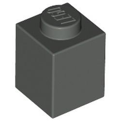 Dark Gray Brick 1 x 1 - used