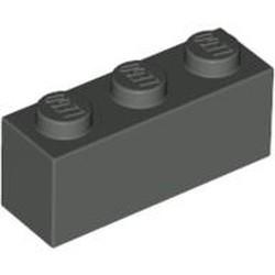 Dark Gray Brick 1 x 3 - used