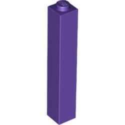 Dark Purple Brick 1 x 1 x 5 - Solid Stud - new