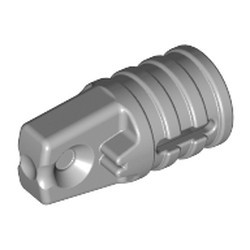 Light Bluish Gray Hinge Cylinder 1 x 2 Locking with 1 Finger and Axle Hole on Ends with Slots - used