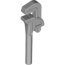 Light Bluish Gray Minifigure, Utensil Tool Pipe Wrench - used