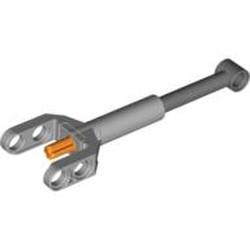 Light Bluish Gray Technic, Linear Actuator Mini with Dark Bluish Gray Head and Orange Axle - new