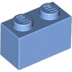 Medium Blue Brick 1 x 2 - new