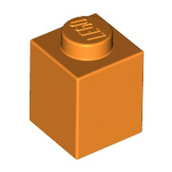 Orange Brick 1 x 1 - new