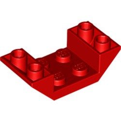 Red Slope, Inverted 45 4 x 2 Double with 2 x 2 Cutout - new