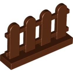 Reddish Brown Fence 1 x 4 x 2 Paled (Picket) - new