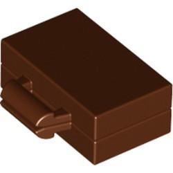 Reddish Brown Minifigure, Utensil Briefcase / Suitcase - new