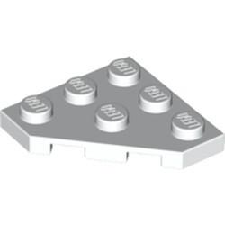 White Wedge, Plate 3 x 3 Cut Corner - used