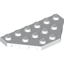 White Wedge, Plate 3 x 6 Cut Corners - used