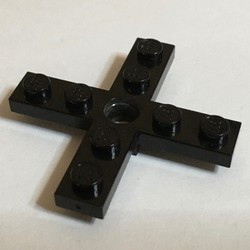 Black Propeller 4 Blade 5 Diameter 5 x 5 with Center Hole for Rotor Holder - used