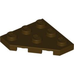 Dark Brown Wedge, Plate 3 x 3 Cut Corner - used