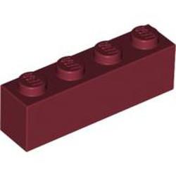 Dark Red Brick 1 x 4 - used