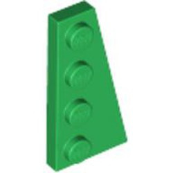 Green Wedge, Plate 4 x 2 Right - new