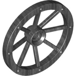 Pearl Dark Gray Wheel Wagon Large 33mm D., Hole Notched for Wheels Holder Pin - new