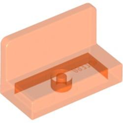 Trans-Neon Orange Panel 1 x 2 x 1 with Rounded Corners - used