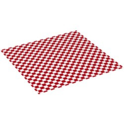 White Cloth Picnic Tablecloth / Blanket with Red Checkered Pattern - new