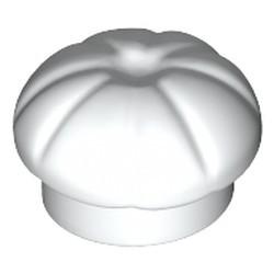 White Minifigure, Headgear Hat, Chef Toque