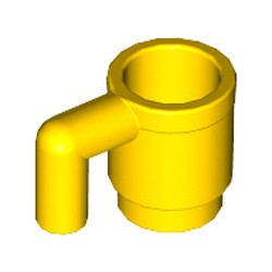 Yellow Minifigure, Utensil Cup - used