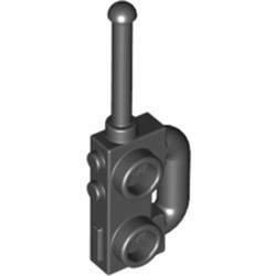 Black Minifigure, Utensil Radio with Extended Handle