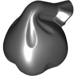 Black Minifigure, Utensil Sack / Bag with Handle - new