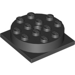 Black Turntable 4 x 4 Square Base with Same Color Turntable 4 x 4 Top (3403 / 3404) - used