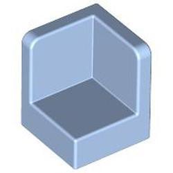 Bright Light Blue Panel 1 x 1 x 1 Corner - used