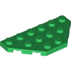 Green Wedge, Plate 3 x 6 Cut Corners - used