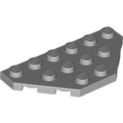 Light Bluish Gray Wedge, Plate 3 x 6 Cut Corners - used