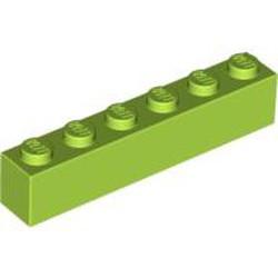 Lime Brick 1 x 6 - new