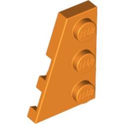 Orange Wedge, Plate 3 x 2 Left - new